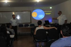 O Sistema Capes de Avaliação foi um dos temas apresentados durante a visita. Foto: Edna Lima/DTCS/UNEB