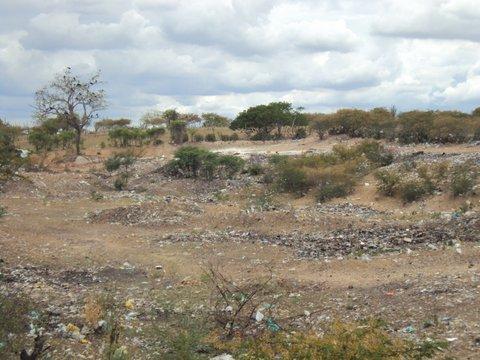 Na beira das estradas os lixões intensificam a degradação no semiárido. Foto: Liliana Peixinho.