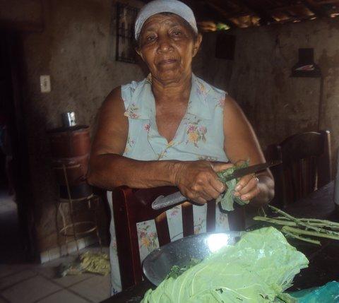 As folhas continuam sendo sagradas para dona Lídia. Foto: Liliana Peixinho.
