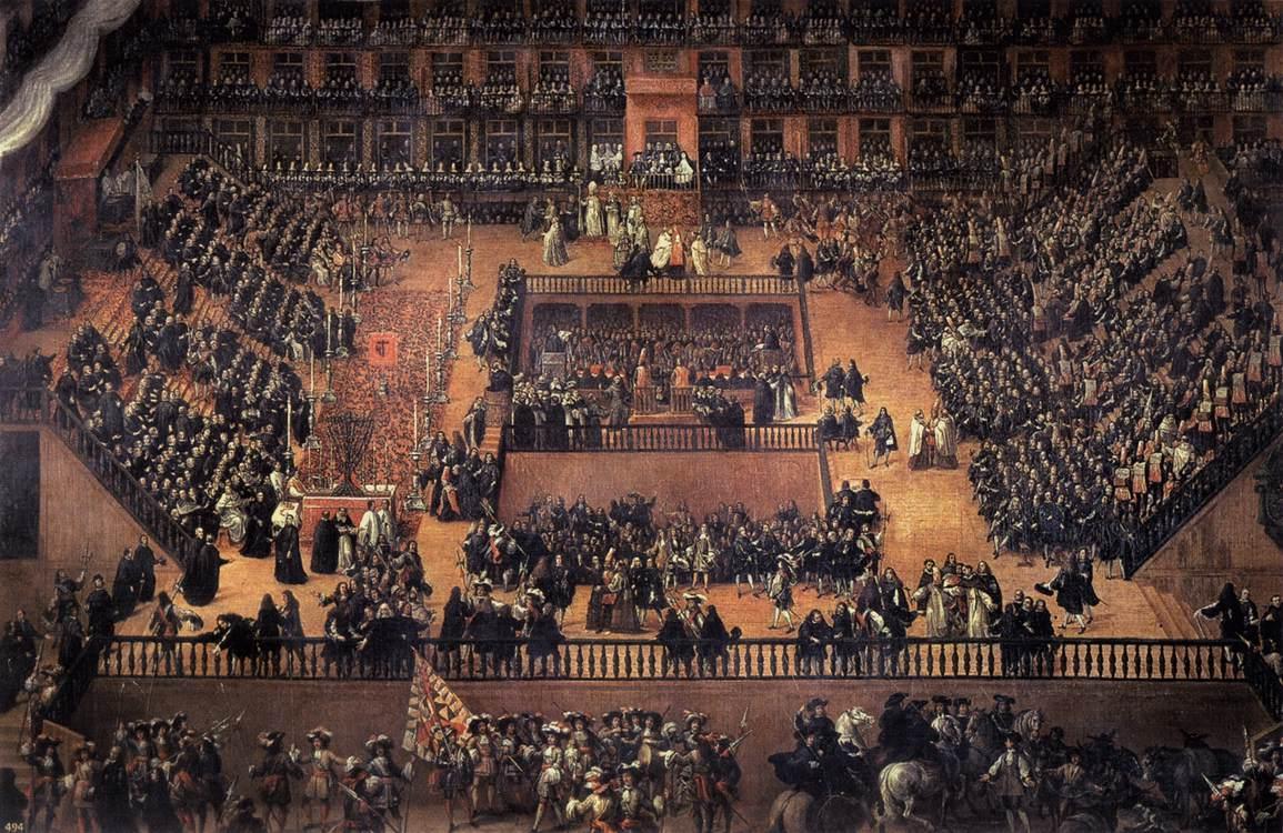Auto de fe en la Plaza Mayor de Madrid (1683).