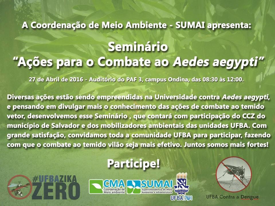 Seminário Ações para o Combate ao Aedes aegypti