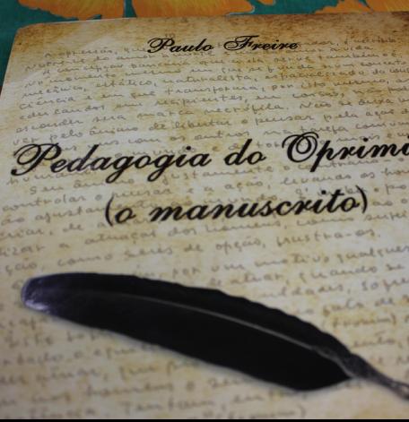 Manuscrito do livro Pedagogia do Oprimido/ Fonte: Reprodução